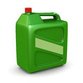 Green plastic canister Royalty Free Stock Photography