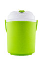 Green plastic canteen isolated on white background Royalty Free Stock Image