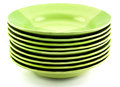 Green plates on white Stock Photography