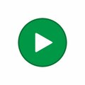 Green play button icon vector design Royalty Free Stock Photo