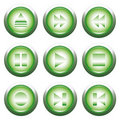 Green playback button Royalty Free Stock Photo