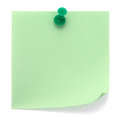 Green post-it note Royalty Free Stock Photo