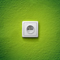 Green power socket Royalty Free Stock Photo