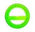 A green protractor Royalty Free Stock Photo