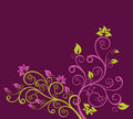 Green and purple floral vector illustration Stock Photography