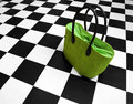 Green purse - women handbag Royalty Free Stock Photo