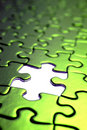 Green puzzle pieces Royalty Free Stock Photo