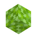 Green puzzle square green puzzle concept Stock Photos