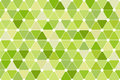 Green Quincunx Seamless Triangle Pattern