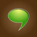 Green quote speech bubble