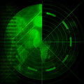 Green radar screen Stock Image
