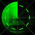 Green radar screen Stock Photos