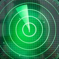 Green radar screen with dots Royalty Free Stock Photo