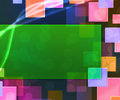 Green Rectangle Abstract Background Royalty Free Stock Photo