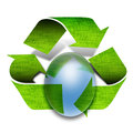 Green recycle arrows Royalty Free Stock Images