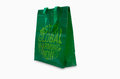 Green recycle bag on white Stock Photos