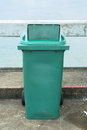 Green recycle garbage can and trash Stock Photography