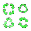 Green Recycle sign isolated,