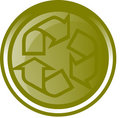 Green recycling button Royalty Free Stock Photo