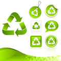 Green Recycling Design Kit Stock Images