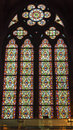 Green Red Blue Designs Stained Glass Notre Dame Paris France Royalty Free Stock Photo