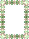 Green-and-red celtic border 8 Stock Photos