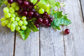 Green and red grape background