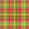 Green Red Plaid Royalty Free Stock Photo