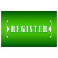 Green register button Royalty Free Stock Photo