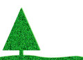 Green retro christmas tree with glitter background Royalty Free Stock Photo