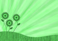 Green retro flower background Royalty Free Stock Image