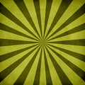 Green retro sunburst Royalty Free Stock Images