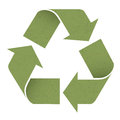 Green reuse symbol, isolated on white Royalty Free Stock Photos