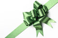 Green ribbon bow isolated on white background Royalty Free Stock Photography