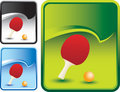 Green rip curl backdrop with ping pong paddle ball Royalty Free Stock Photography