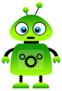 Green robot Royalty Free Stock Photos