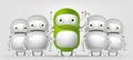Green robot cartoon character concept illustration vector eps Royalty Free Stock Photos