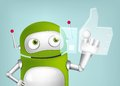 Green robot cartoon character concept illustration vector eps Royalty Free Stock Photo