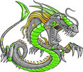 Green Robot Cyborg Dragon Royalty Free Stock Images
