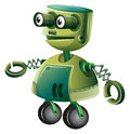 A green robot illustration of on white background Royalty Free Stock Images