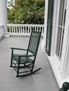 Green rocking chair Stock Photo