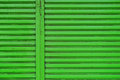 Green roller shutter steel door Royalty Free Stock Photo