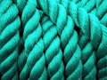 Green rope texture suitable as background Royalty Free Stock Photography
