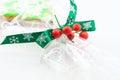 Green rosette ribbon Stock Image