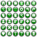 Green Round Web Buttons [1] Stock Images
