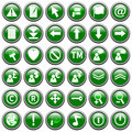 Green Round Web Buttons [2]