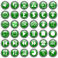 Green Round Web Buttons [3]