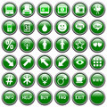 Green Round Web Buttons [4] Stock Images