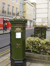 Green royal post box windsor in uk Royalty Free Stock Image