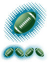 Green Rugby balls and haftone Royalty Free Stock Images